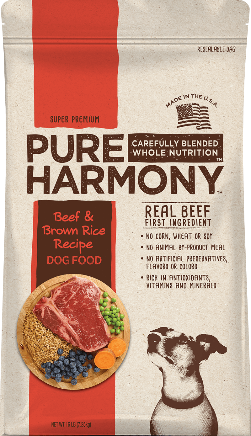 Pure Harmony Beef & Brown Rice Recipe Dry Dog Food