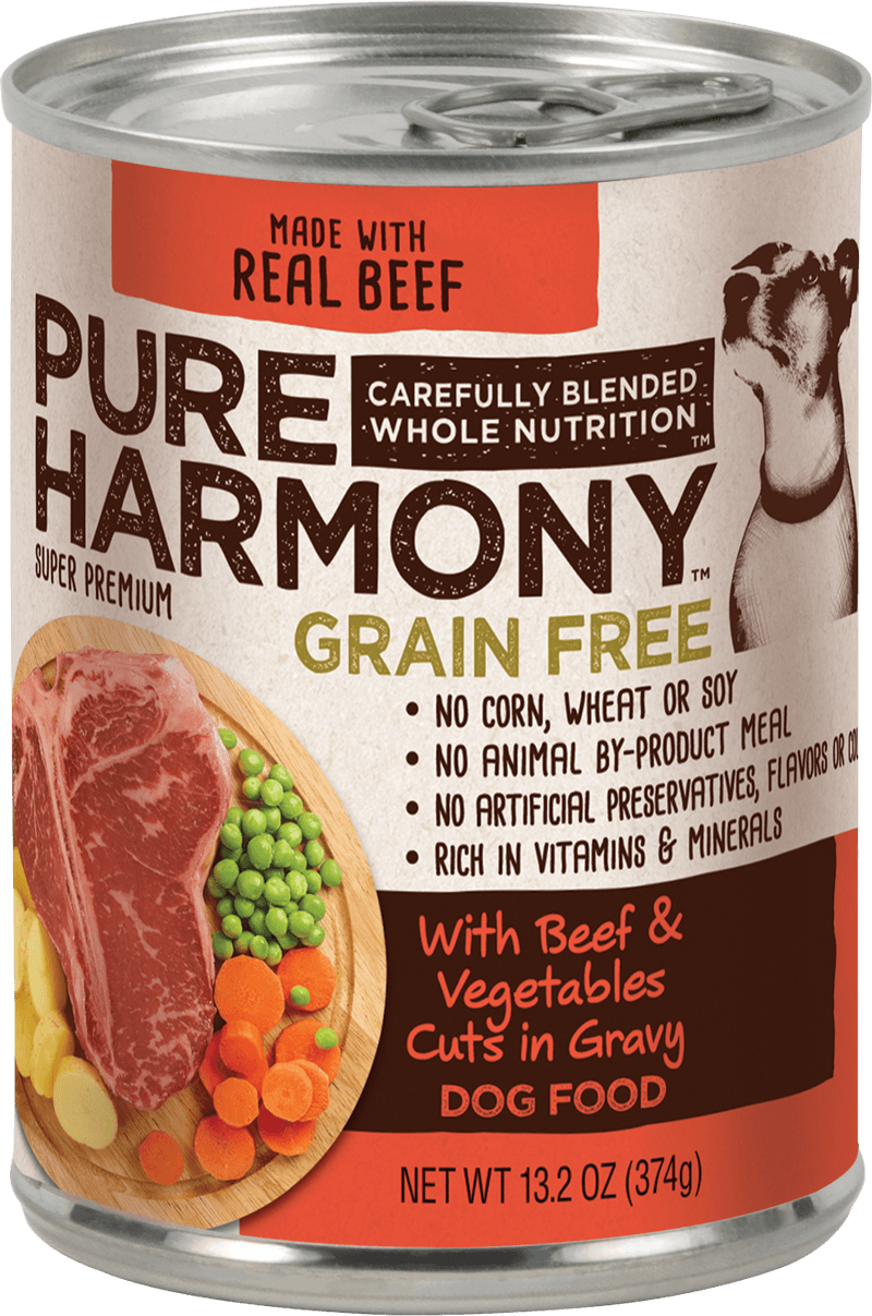 Pure Harmony Beef & Vegetables Cuts in Gravy Canned Dog Food