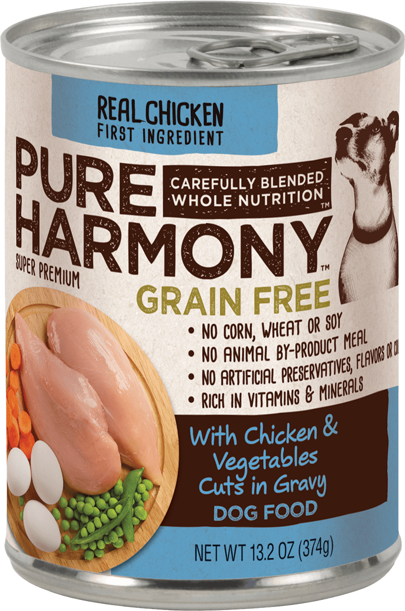 Pure Harmony Canned Dog Food with Chicken & Vegetables Cuts in Gravy