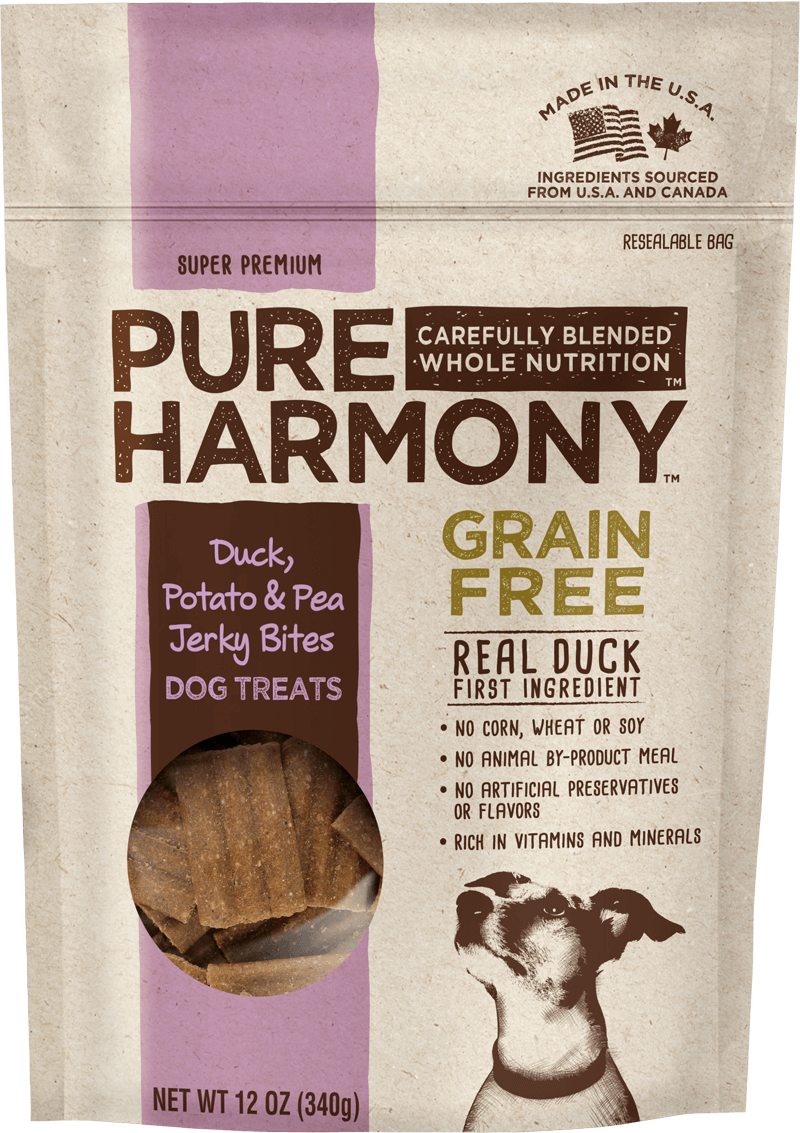 Pure Harmony Duck, Potato & Pea Jerky Bites Dog Treats