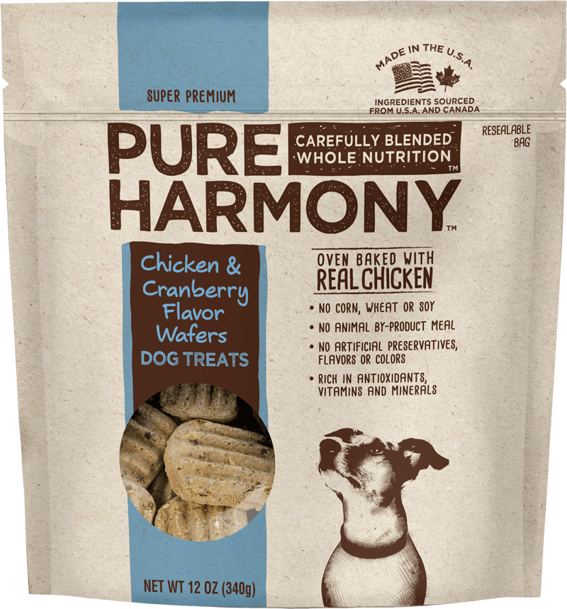Pure Harmony Chicken & Cranberry Flavor Wafers Dog Treats
