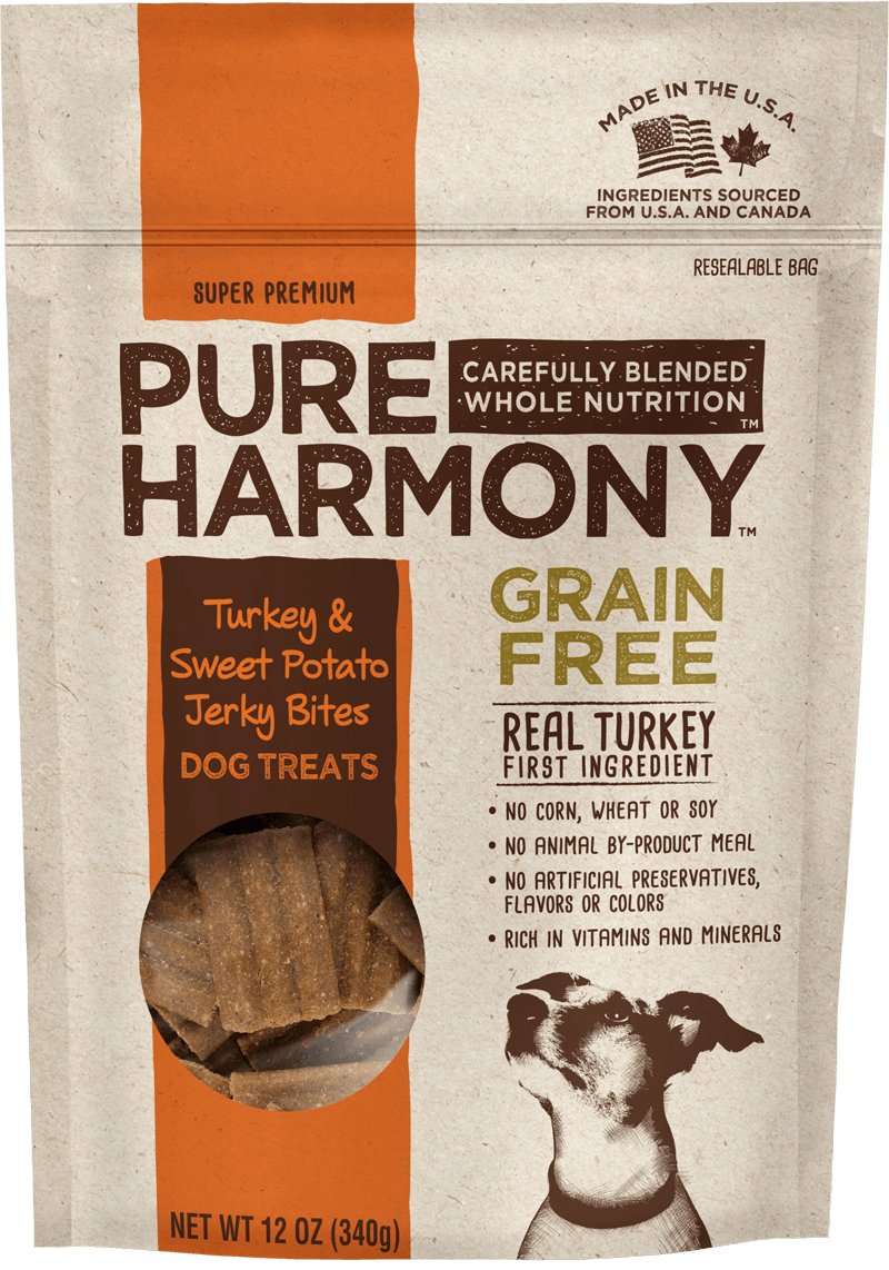 Pure Harmony Turkey & Sweet Potato Jerky Bites Dog Treats