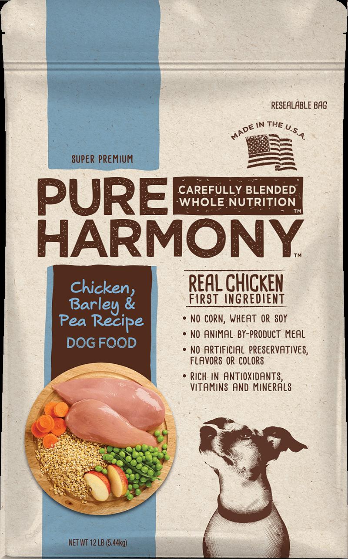 Pure Harmony Chicken Barley & Pea Recipe Dry Dog Food
