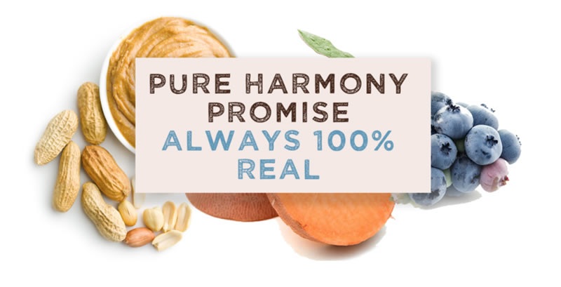 Pure Harmony Promise Always 100 percent real Food