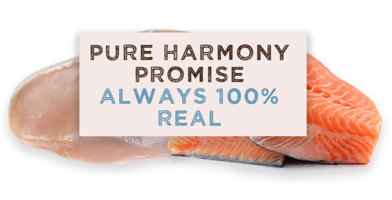Pure Harmony Promise Always one hundred percent real food